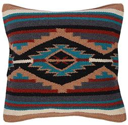 El Paso Designs Throw Pillow Covers 18 X 18- Hand Woven Wool
