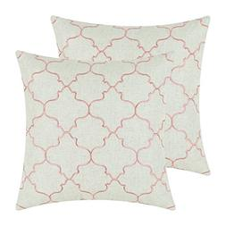 Pack 2 CaliTime Throw Pillow Covers 17 X 17 Inches, Vintage