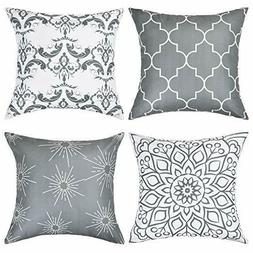 Throw Pillow Covers Modern Decorative 4pcs /the insert is no