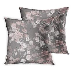 Emvency Set of 2 Throw Pillow Covers Print Polyester Zippere