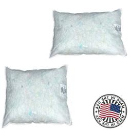 Throw Pillow Insert Filled with White Shredded Foam Extra Fi