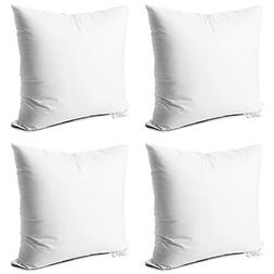 Edow Throw Pillow Inserts,Set of 4 Soft Hypoallergenic Down