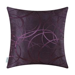 Calitime Throw Pillows Case Cushion Cover, Jacquard Ring Cir