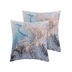 HWY 50 Set of 2 Throw Pillows Covers For Couch/Bed 18 x 18 i