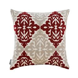 HWY 50 Cotton Embroidered Christmas Decorative Throw Pillow