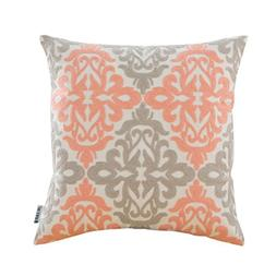 HWY 50 Coral Pink And Grey Sofa Throw Pillows Covers 18 x 18