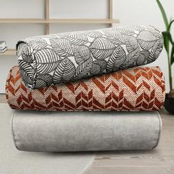 Throw Round Long Roll Tube Pillows Rectangular Cotton Blend