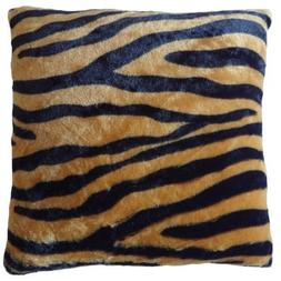 The Pecan Man Tiger B Animal Pattern Faux Fur Decorative Thr