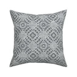 Tiles Gingham Line Pattern Throw Pillow Cover w Optional Ins