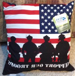 toss throw pillow support our troops usa