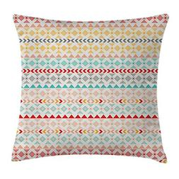 Tribal Decor Throw Pillow Cushion Cover by Ambesonne, Vintag