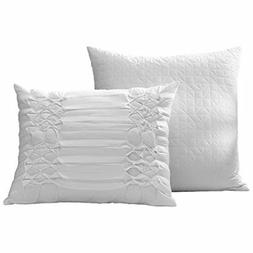 City Scene Triple Diamond Throw Pillow Set, 16x20, White