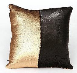 Home Basics Two-Tone Sequin Decorative Throw Pillow with Ins