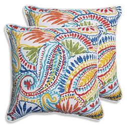 Pillow Perfect Outdoor Ummi Throw Pillow, 18.5-Inch, Multico