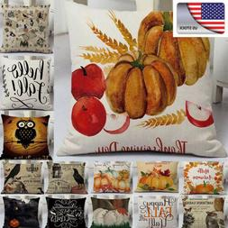 US Halloween Pillows Cover Fall Decor Pillow Case Sofa Waist