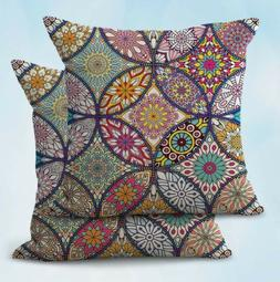 US Seller-2PCS pillow covers for throw pillowcase patchwork
