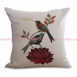US SELLER-bird animal cushion cover decorative pillows for l
