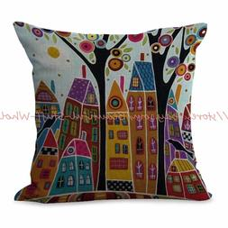 US SELLER-city scenery art cushion cover decorative pillows
