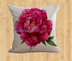 US Seller- Decorative pillows for living room peony flower c