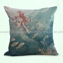 decorative throw pillows for sofa mermaid cushion cover