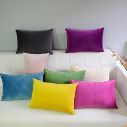 Velvet pillowcase cushion cover <font><b>throw</b></font> <f
