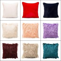 Velvet Square Plush Throw Pillow Soft Cases Waist Cushion Co