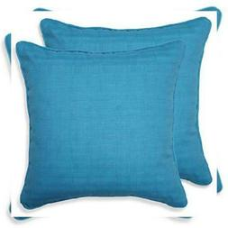 Pillow Perfect Outdoor Veranda Turquoise Throw Pillow, 18.5-