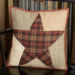 VHC Country Throw Decoratvie Accent Pillow Sofa Couch Red St