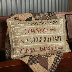 VHC Primitive Decorative Throw Pillow Couch 14x22 Cover + In