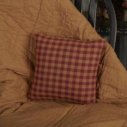 VHC Primitive Throw Decorative Accent Pillow Sofa Couch Burg