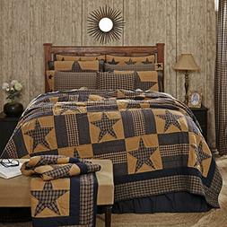 VHC Brands Teton Star Primitive Country Patchwork King Quilt