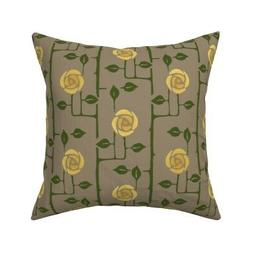 Victorian Roses Arts And Crafts Throw Pillow Cover w Optiona