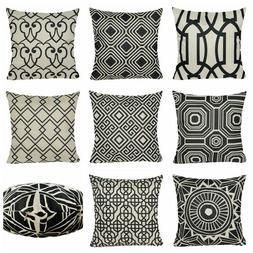 Vintage Black Decorative Throw PILLOW COVER Sofa Couch Retro