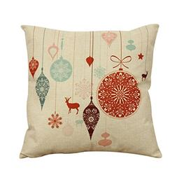 Ikevan Vintage Christmas Sofa Bed Home Decor Pillow Case Cus