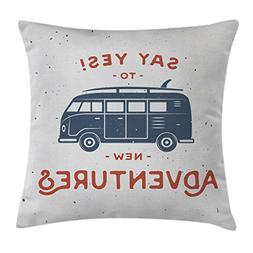 Vintage Decor Throw Pillow Cushion Cover by Ambesonne, New A