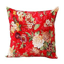 Ikevan Vintage Beautiful Flowers Faux suede Square Pillowcas