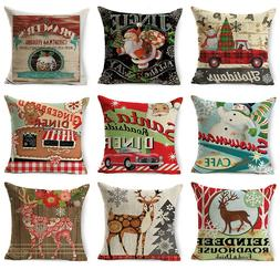 Vintage Stamp Pattern Printted Christmas <font><b>Throw</b><
