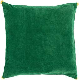 Surya VP006-1818D Down Fill Pillow, 18-Inch by 18-Inch, Emer
