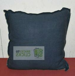 "Washed Cotton/Linen Throw Pillow - Navy - 18"" x 18"" - Thresh"