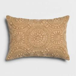 "Washed Medallion Lumbar Throw Pillow - Gold/Yellow - 20"" x 1"
