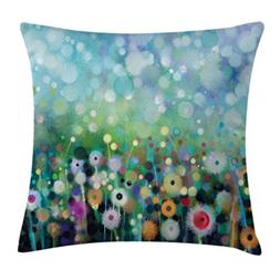 Watercolor Flower Home Decor Throw Pillow Cushion Cover by A
