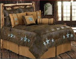 Western Turquoise Triple Star - 6 Piece Super Queen Comforte