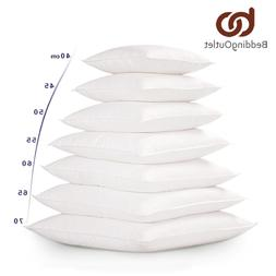 BeddingOutlet White Cushion Insert for Car Sofa <font><b>Dow