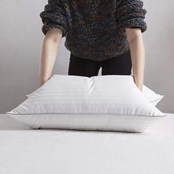 L LOVSOUL White Goose Down and Feather Bed Pillows - Three C
