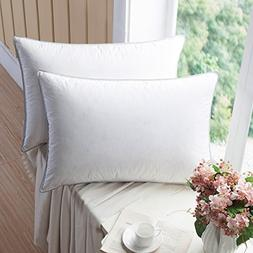 WENERSI Premium Goose Down Pillows with Feather Blended  100
