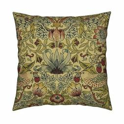 william morris arts and crafts throw pillow