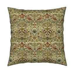 William Morris Arts And Crafts Throw Pillow Cover w Optional
