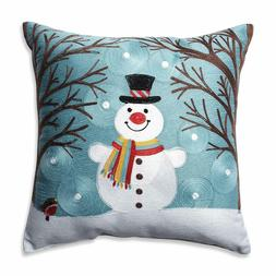Pillow Perfect Winter Wonderland Frost Throw Pillow, 16.5""