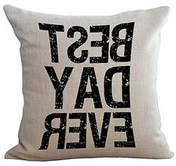 Wisdom Words Printing Cushion Cover LivebyCare Linen Cotton