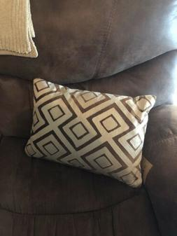 World Market Lumbar Throw Pillow Brown & Tan